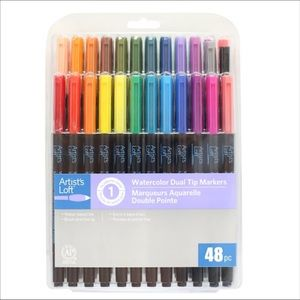 🆕 48 Watercolor Dual tip markers by Artist Loft